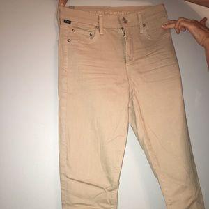 Khaki denim jeans
